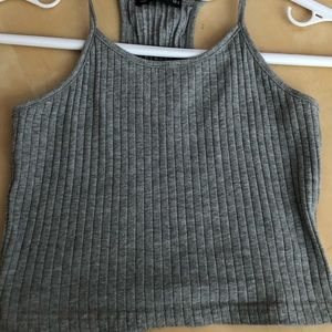 Grey crop halter top from SHEIN size small